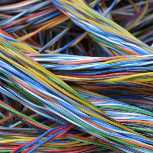 Kabelstränge, Stimmungsbild für Projektmanagement, Projektsteuerung, Facility Management Wohnungsbau, Kitas, Schulen, Sportanlagen